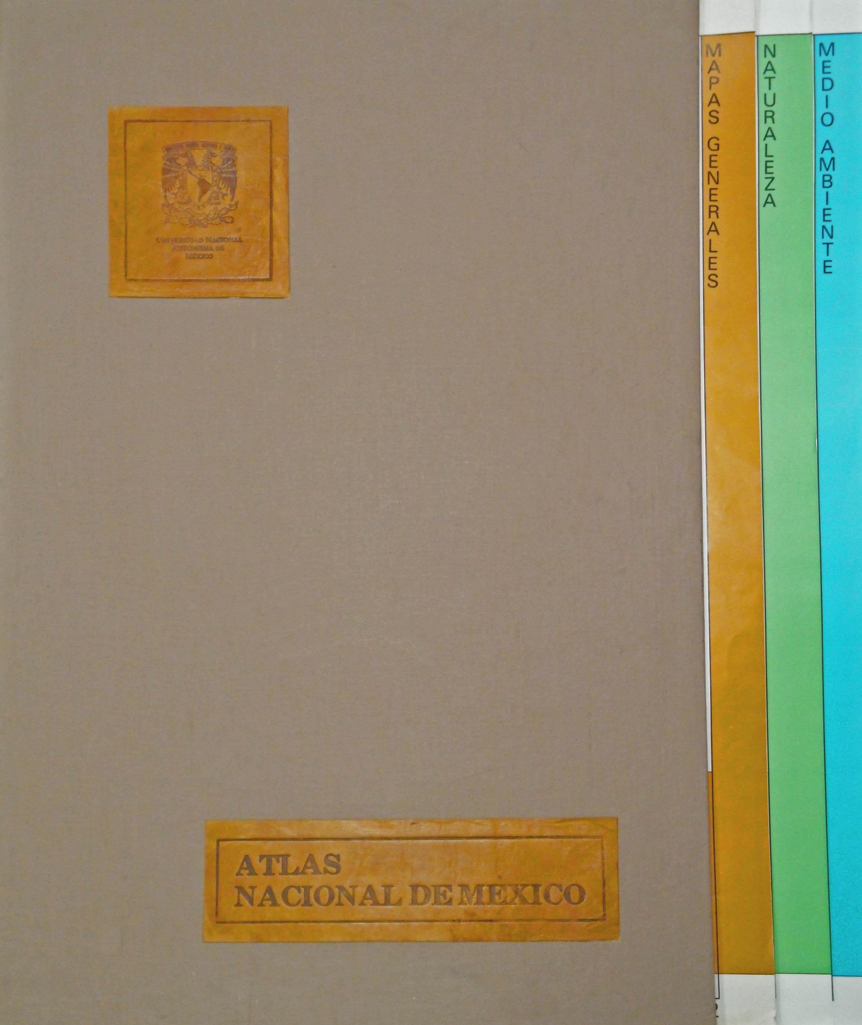 Cubierta para Atlas nacional de México 1990-1992